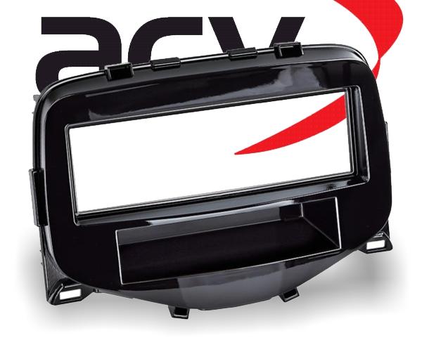 Radioblende 2-DIN Komplett-Set mit Ablagefach Citroen Peugeot Toyota