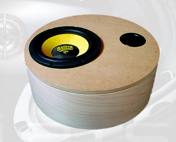 Zylinder-Gehäuse für Subwoofer 600x200 mm Volumen 49,2 l