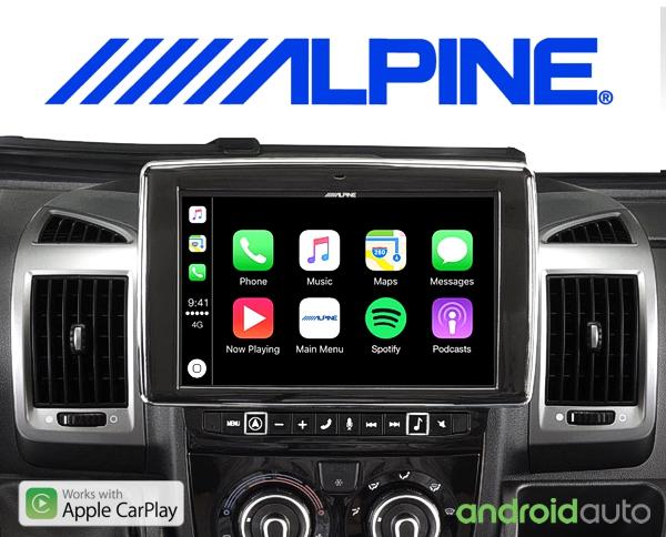 Alpine Premium Autoradio i902D-DU für Fiat Ducato 3, Citroën Jumper 2 und Peugeot Boxer