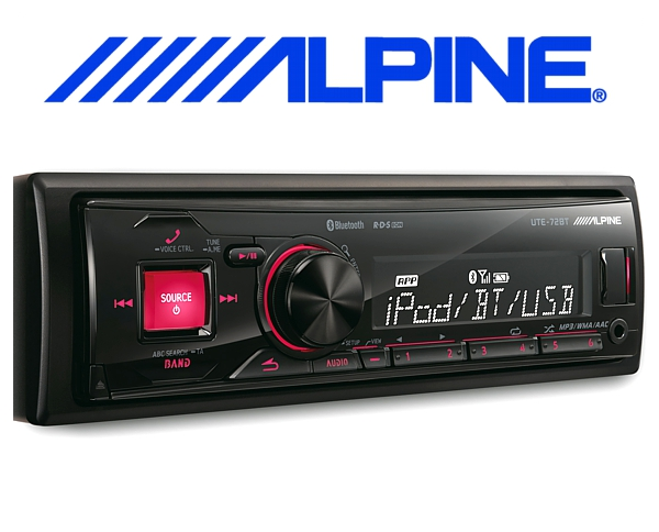 Alpine Autoradio UTE-72BT mit USB/iPhone/iPod-Anschluss Bluetooth