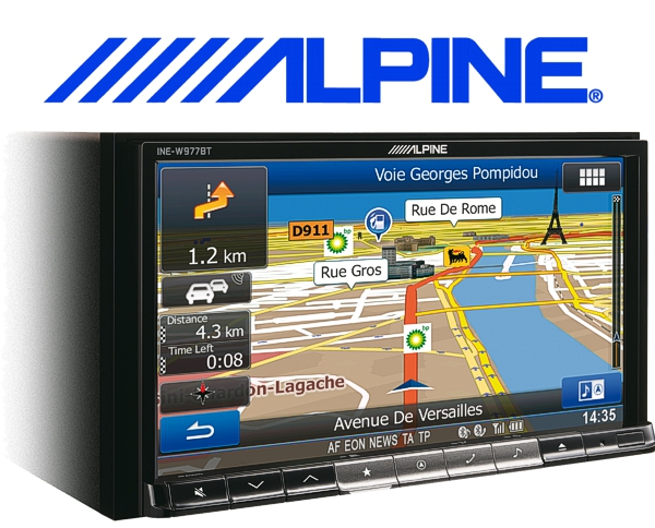 Alpine Navigationsgerät Autoradio INE-W977BT mit USB/iPhone/iPod
