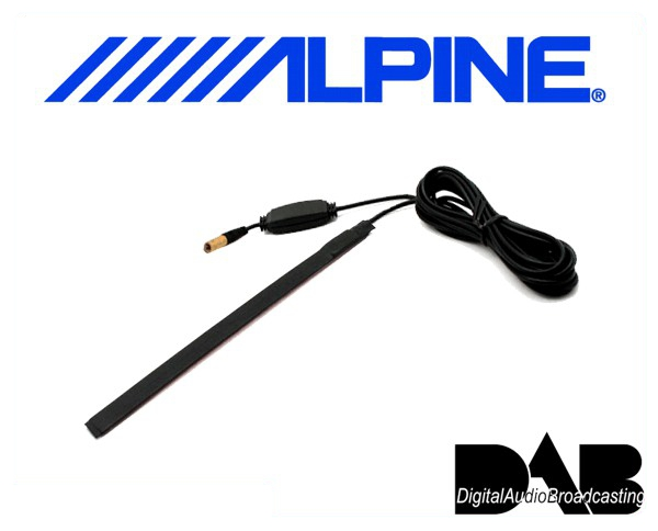 Alpine aktive dab scheibenantenne kae 232da for Antenne autoradio interieur