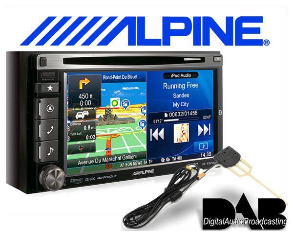 Alpine DAB+ Navigationsgerät / Autoradio INE-W925R inkl. DAB+ Antenne
