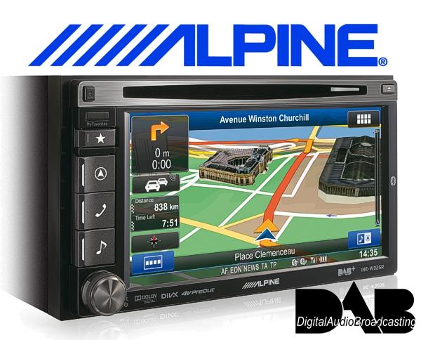 Alpine DAB Navigationsgerät / Autoradio INE-W925R mit USB/iPhone/iPod