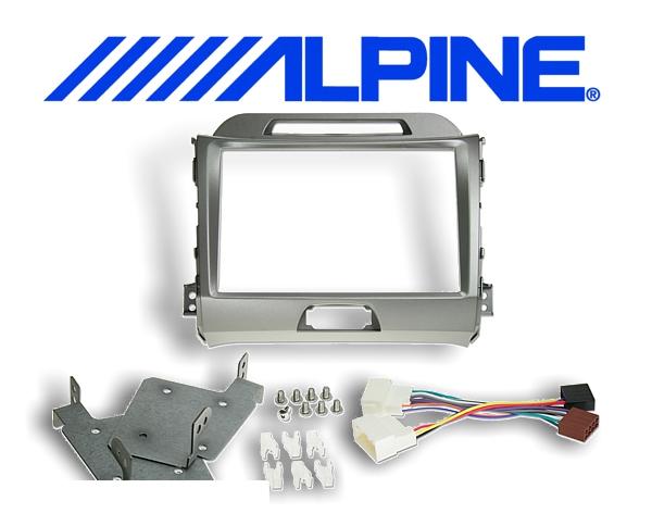 8 Einbauset KIT-8KSG Kia für Alpine INE-W928R silber