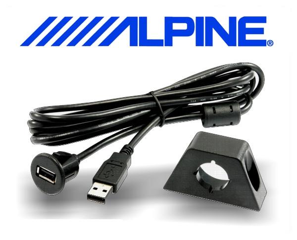 Alpine USB Verlängerungskabel mit Einbaubuchse KCE-USB3