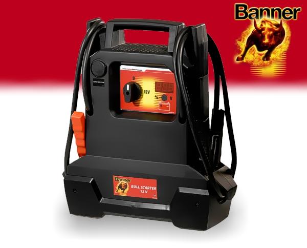 Banner Batterie Starthilfe Booster Bull Starter 12V 1600A