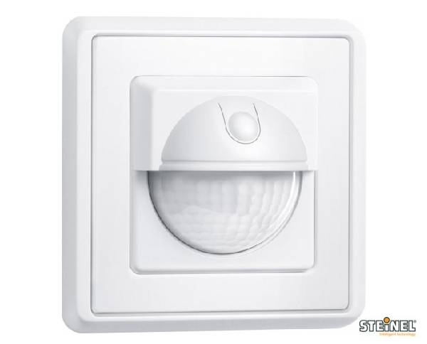 Bewegunsmelder Bewegungsschalter 180° Unterputz Weiß 1000W 8m Steinel
