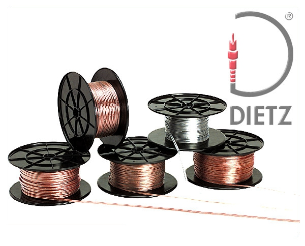 Lautsprecher-Kabel 2x 0,75 mm² Vollkupfer Lautsprecherkabel transparent mit Markierung