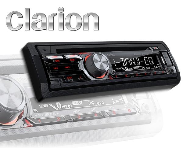 Clarion Autoradio CZ315E inkl. Bluetooth Freisprecheinrichtung