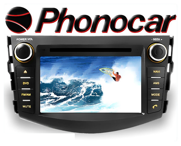 Phonocar Toyota RAV4 7 Tochscreen Multimedia Station DVD Bluetooth USB GPS