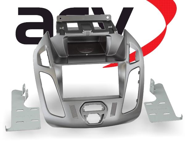 Radioblende 2-DIN mit Ablagefach Ford Transit Tourneo Phönix silber