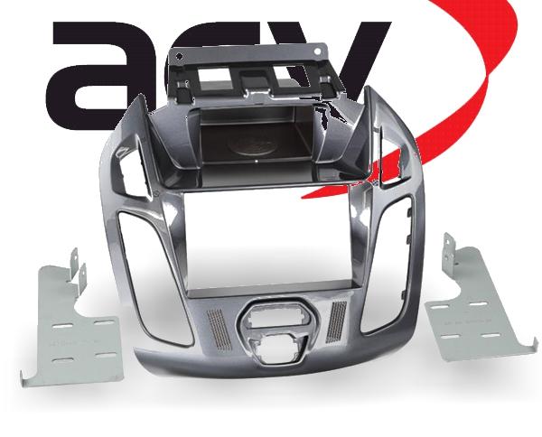 Radioblende 2-DIN mit Ablagefach Ford Transit Tourneo Nebula