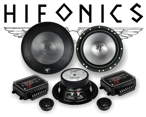Hifonics Atlas 2-Wege Auto Lautsprecher System AS-6.2C