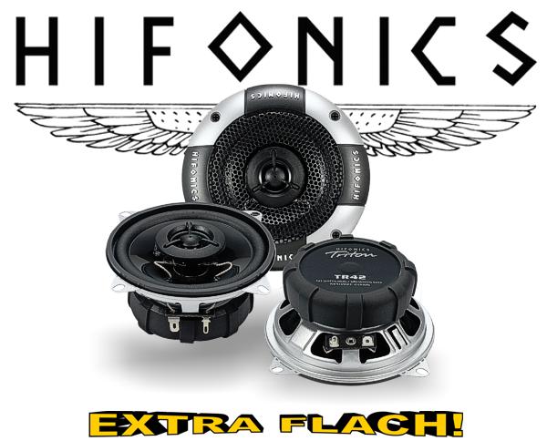 Hifonics 2-Wege Auto Lautsprecher Koax TR42 extra flach!