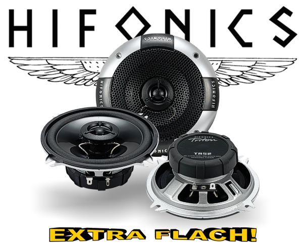 Hifonics 2-Wege Auto Lautsprecher Koax TR52 extra flach!