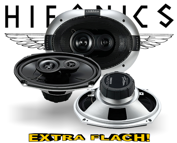 Hifonics 3-Wege Auto Lautsprecher Triax TR693 extra flach!