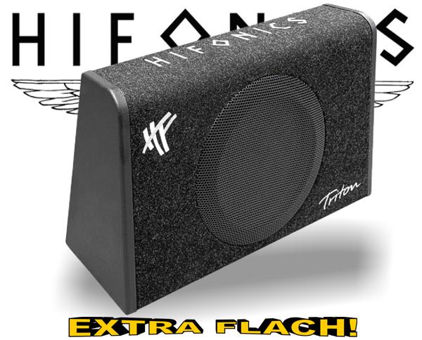 Hifonics Triton Subwoofer Bassreflex TRS-250 extra flach