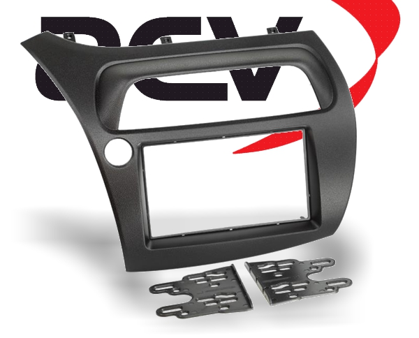 Radioblende Doppel-DIN Radioblende Honda Civic VIII R S schwarz