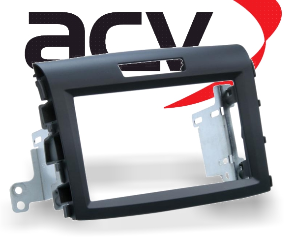 Radioblende Doppel-DIN Radioblende Honda CR-V schwarz rubber-touch