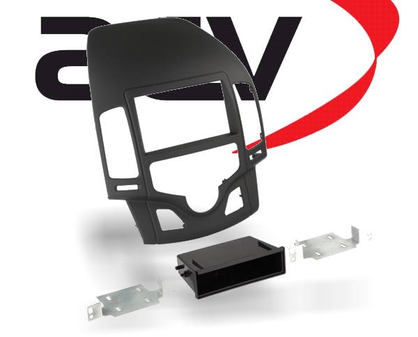 Radioblende 1-DIN mit Ablagefach Hyundai i30 schwarz