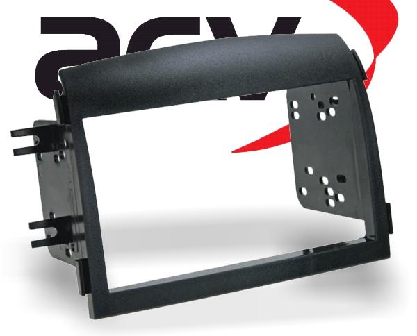 Radioblende Einbau-Kit Hyundai Sonata Doppel-DIN schwarz Typ11