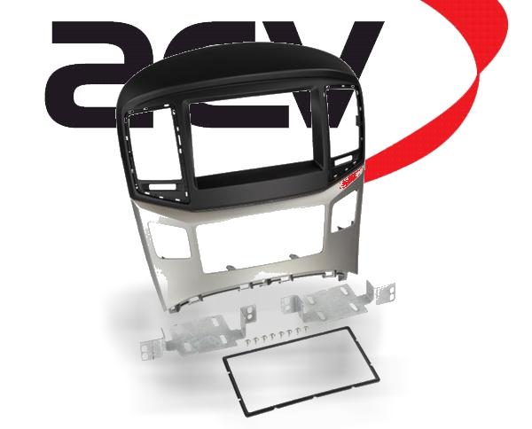 Radioblende Doppel-DIN Hyundai H1 ab 2015 schwarz silber