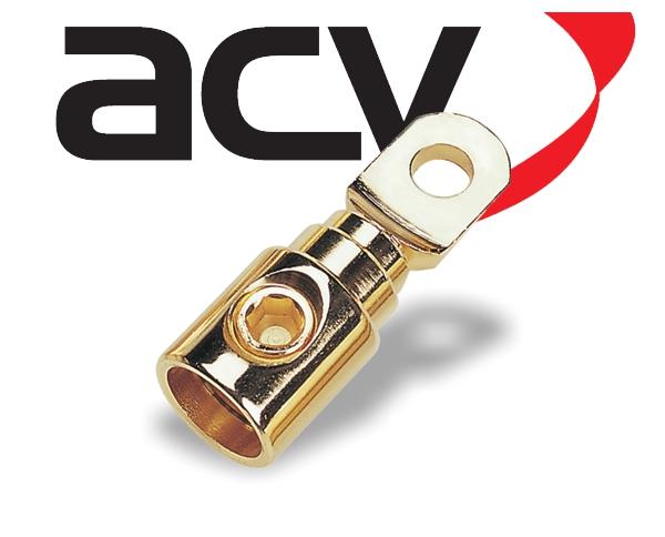 Kabelschuh Ring Schraubverbindung 50 mm² gold