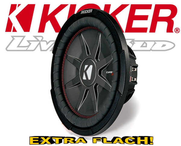 Kicker Subwoofer flach CompRT CWRT122-43 2x 2ohm 1000W 30cm