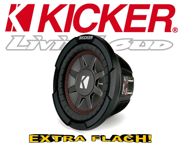 Kicker Subwoofer flach CompRT CWRT672-43 2x 2ohm 300W 16,5cm