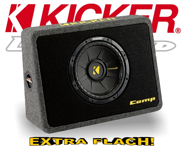 Kicker Subwoofer Bassbox TCompS104 TCWS104 4ohm 600W 25cm