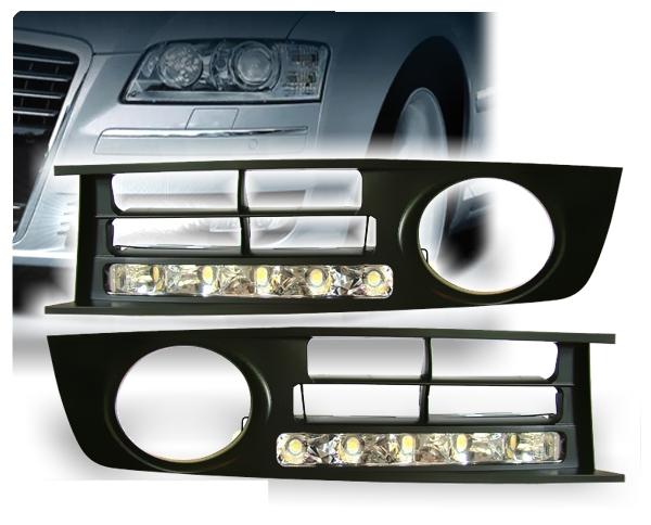 LED Tagfahrlicht Audi A4 8E Tagfahrleuchten in Kunststoffhalterung