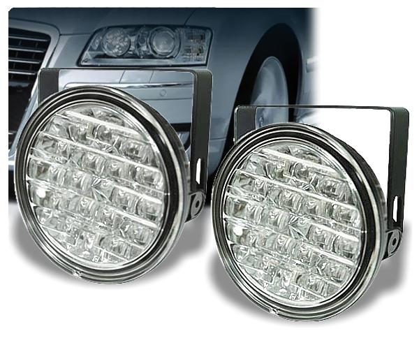 LED Tagfahrlicht Tagfahrleuchten rund nachrüsten Typ DRL9R