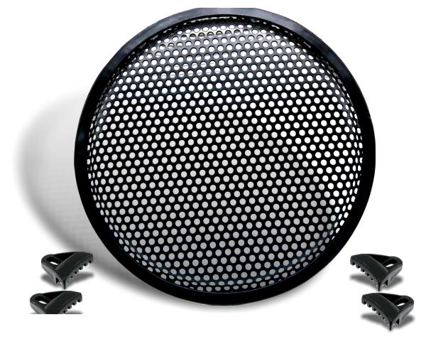 Lautsprecher-Schutzgitter 15 inkl. Befestigungsklammern