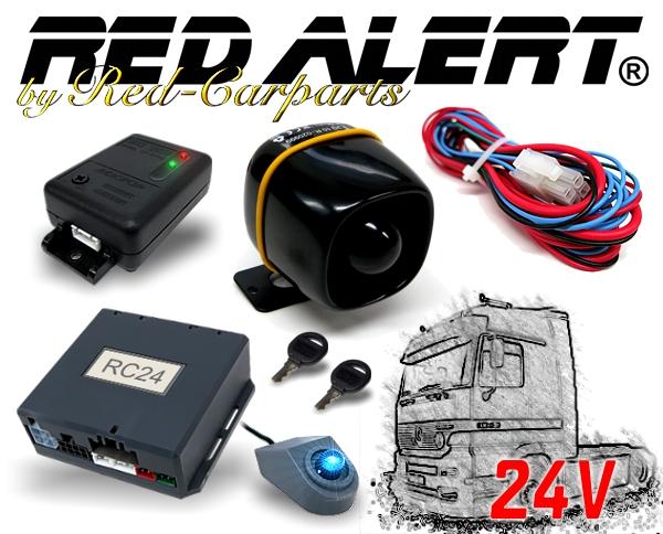 Red-Alert CAN-Bus LKW Alarmanlage RC24 inkl. Erschütterungssensor Akkusirene 24V