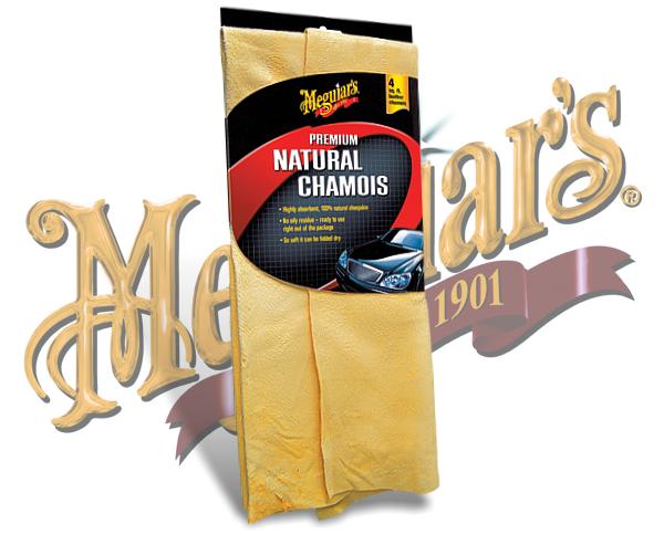 Meguiars Premium Natural Chamois Naturleder Fensterleder X-2100