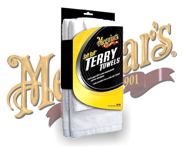 Meguiars Terry Towels 2er-Pack Baumwolltücher ultraweich X-2050