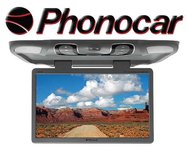 Phonocar 15,6 Monitor Deckenmonitor mit USB SD VM191
