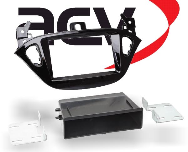 Radioblende Doppel-DIN mit Ablagefach Opel Adam Corsa ab2013 Klavierlack schwarz