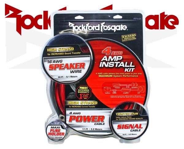 Endstufen Kabelsatz Rockford Fosgate RFK4X