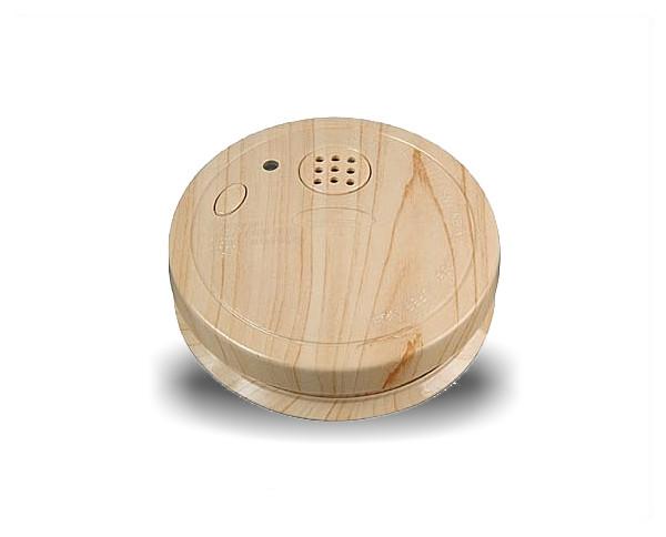 Fotooptischer Rauchmelder, Buche Holz Dekor