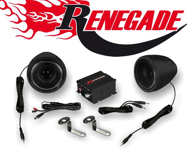 Renegade Motorrad und Roller Hifi Komplettanlage RXA 100 B schwarz
