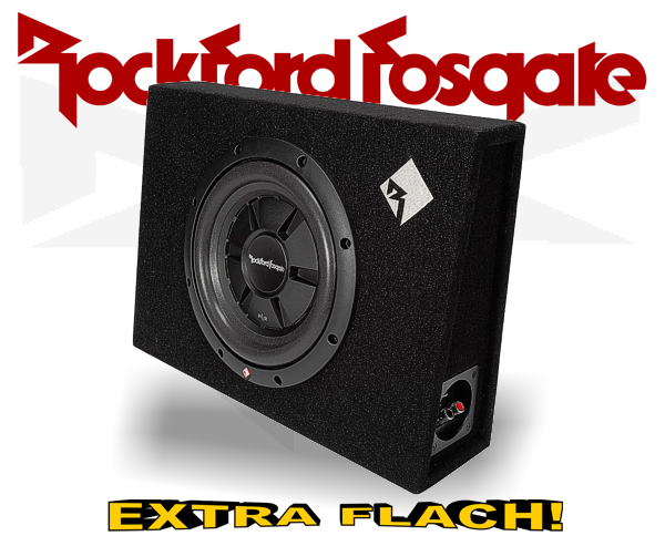 Rockford Fosgate Prime R2 Subwooferbox R2S-1x10 extra flach