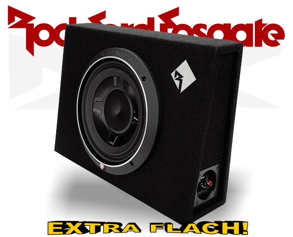 Rockford Fosgate Punch P3 Subwooferbox P3S-1x10 extra flach