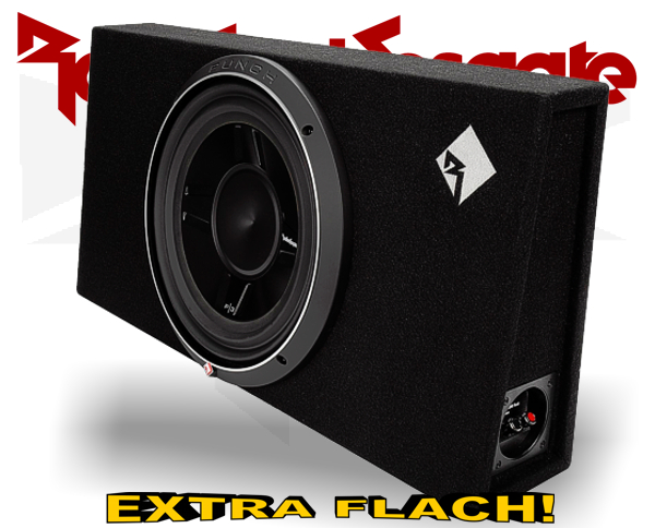 Rockford Fosgate Punch P3 Subwooferbox P3S-1x12 extra flach