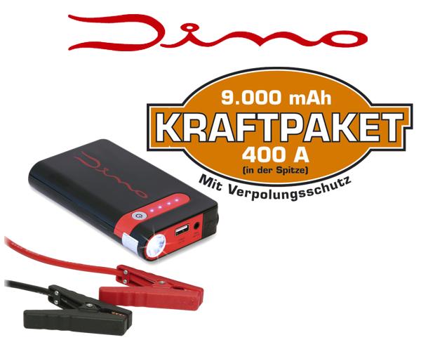 Dino Kraftpaket Starthilfegerät für mobile 12V 400A Starthilfe sowie Ladestation