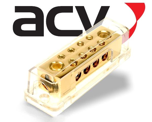 Verteilerblock 2x50/8x10 für Stromkabel / Powerkabel