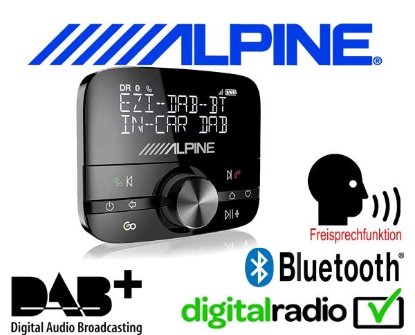 Alpine DAB DAB+ Bluetooth Freisprecheinrichtung Nachrüstung universell für ALLE Autoradios EZi-DAB-BT