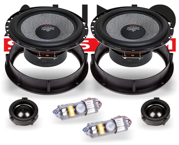 Audio System VW Lautsprecher R165VW EVO 2-Wege Spezial Front-System VW