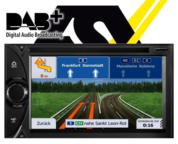 ESX Autoradio mit DAB+ Navigationsgerät i20 15,7cm Touchscreen Monitor VN620D DAB